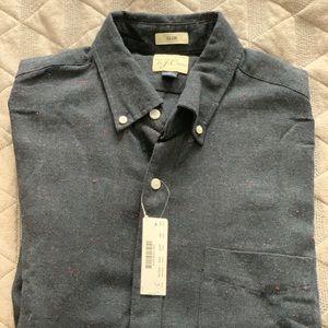 J Crew Navy Long Sleeve Button Down shirt